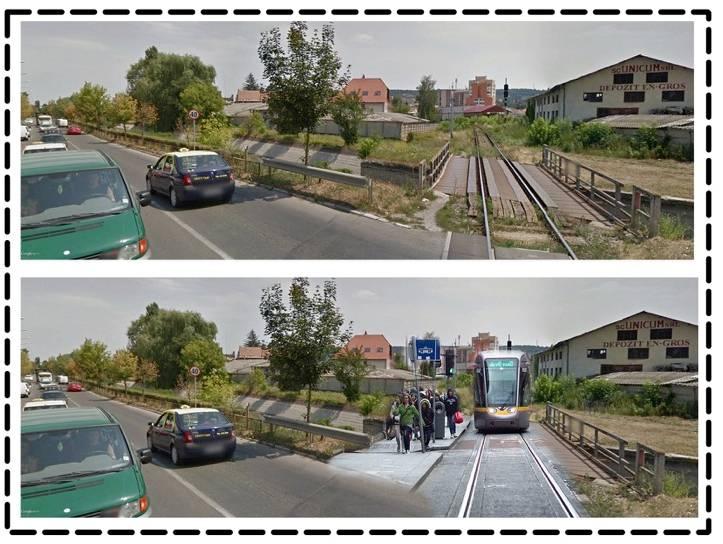 Traseul existent al liniei de cale ferată 405 (Războieni - Tîrgu Mureș - Deda)